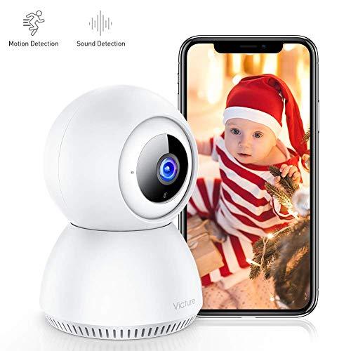 Victure 1080P Baby Monitor With Monitoraggio Suono FHD Telecamera di Sorveglianza WiFi Interno...