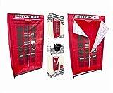 Royle Red Telephone Box Material Wardrobe
