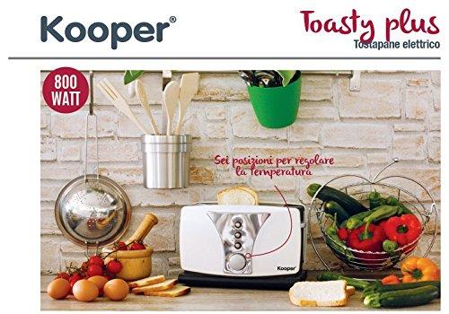 Kooper 2412019 Toasty Tostapane Elettrico, Crema