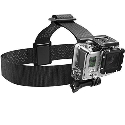 Sabrent GoPro Head Strap cámara pantalla plana [Compatible con todas las cámaras GoPro] (gp-hdst)