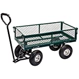 Draper  Steel Mesh Gardeners Cart - Green