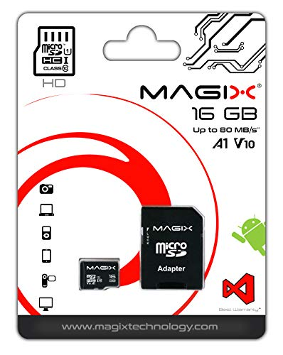 Micro SD Card MAGIX HD Series Class10 V10 + SD Adapter UP to 80MB/s (16 GB)