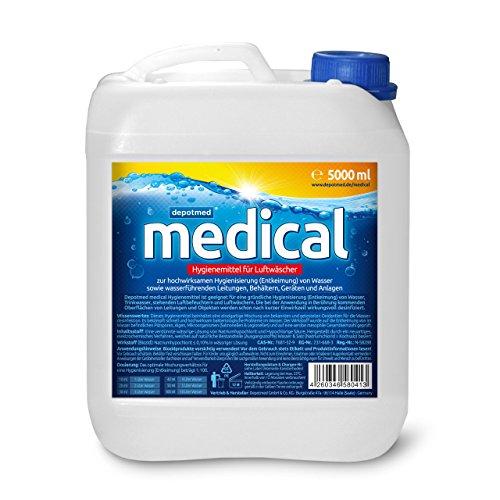 depotmed® medical Hygienemittel für Luftwäscher, Luftbefeuchter , Luftreiniger - Aquafresh, gegen Legionellen