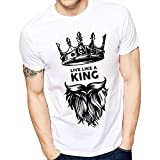 Ghantababajia Unisex Polyester Cotton Printed Live Like A King T- Shirt (idk003-$p,White,Large)