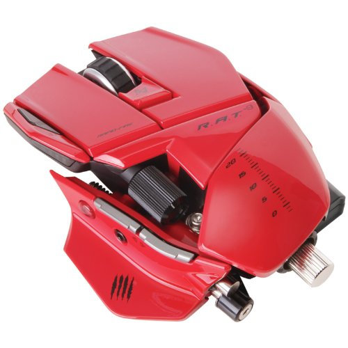 Mad Catz R.A.T. 9 - Ratón Gaming, Color Rojo
