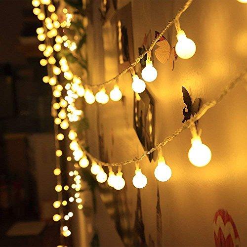 ELINKUME Catena Luminosa 40 LED Luci Stringa Sfere Delle palle a Batteria 4.2 Metri Mood Lights...