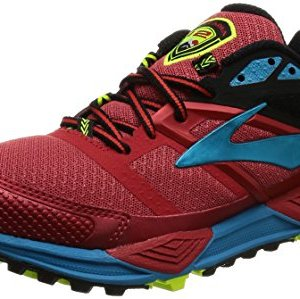 Brooks-Cascadia-12-Zapatillas-de-Gimnasia-Hombre-Rojo-High-Risk-RedBlackVivid-Blue-42-EU