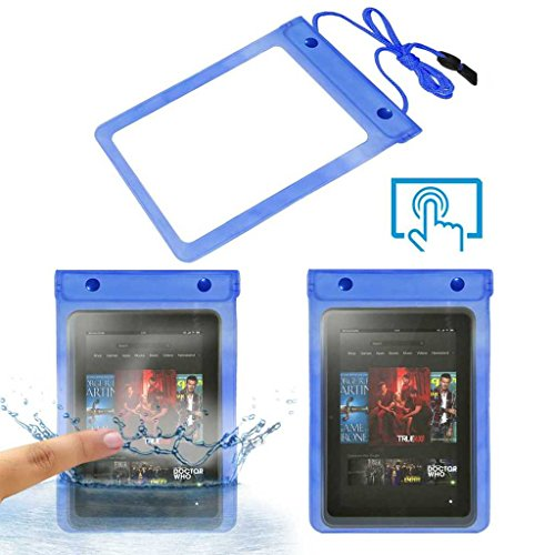 Acm Waterproof Bag Case Compatible with Amazon Kindle Fire Hd 8.9 Tablet (Rain,Dust,Snow & Water Resistant) Blue