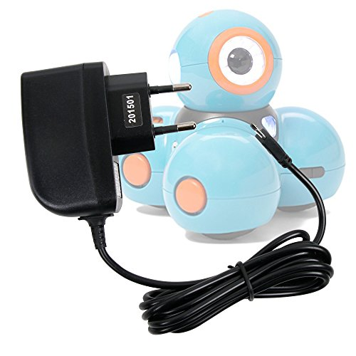 51RVBojYIJL - DURAGADGET Cargador (2 Amperios) para Robots educativos Dash y Dot - Wonder Workshop - con Conexión Micro USB Y Enchufe Europeo De Pared - Certificado por La CE