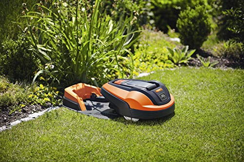Although only suited for gardens up to around 400 m2, which the majority of people probably have, the Flymo 1200R Lithium-Ion Robotic Lawn Mower is our overall winner and is way ahead of some of the other more expensive models which are available, and surprisingly much cheaper than most.