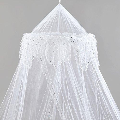 Rete per Letto matrimoniale a baldacchino da principesse-Bella rete argento o bianco per Bambini...