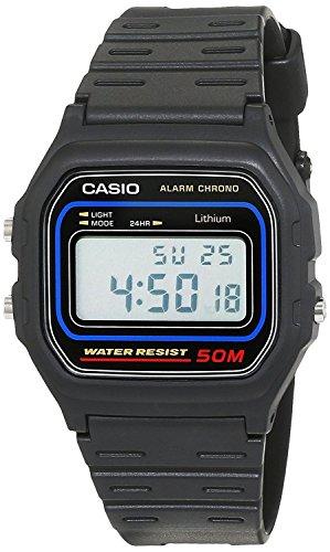 Casio Orologio Digitale Uomo con Cinturino in Resina W59-1V