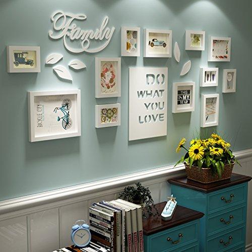 Parete di foto combinata Lettera pastorale camera da letto soggiorno legno massiccio creativo...