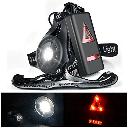 Myguru Luce Corsa Ricaricabile USB, Running Light Lampada Corsa con Luce di Avvertimento Dietro...