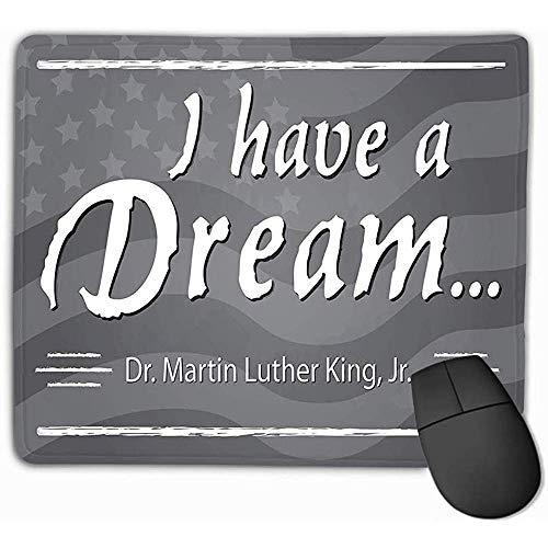 Zome Lag Tappetino per Mouse Ho Un Sogno Martin Luther King jr Day Mezza Pagina Lavagna Bandiera...