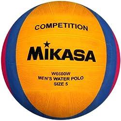 Mikasa 1211 - Pallone da pallanuoto W6600W, Colore Giallo/Blu/Rosa