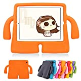Funda protectora de espuma infantil,CLOUDSTOO protectora suave para Apple iPad 2/3/4 A prueba de golpes Kids Safe Foam Mango Cartoon Case Cover Stand para iPad 2/3/4,color naranja