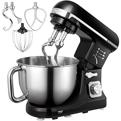 Aicok, mixer frullatore da cucina elettrico, 1000W, con doppio gancio, bacchetta e frusta,...