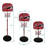 Canestro da Basket con Tabellone Giocattoli Basket Regolabile in Altezza Giochi Sport per Bambini 6 Anni +