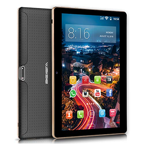 10 pollici Tablet BEISTA Android 7.0- (Processore Quad Core,Capacità 32GB, RAM 2 GB,3G Dual Sim...