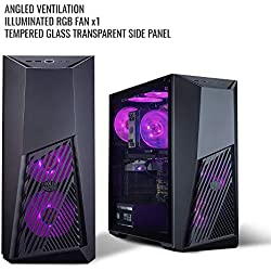Cooler Master MasterBox K501L RGB Mid Tower Gaming Cabinet with Pre-Installed Fans and Tempered Glass Side Panel