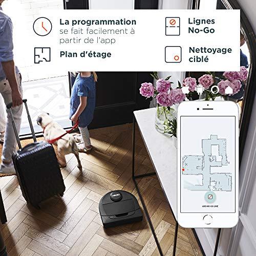 51Rw4ee419L [Bon Plan Ecovacs] Neato Robotics D450 Edition Animaux Domestiques - Compatible avec Alexa - Robot Aspirateur avec Station de Charge, Wi-Fi & App