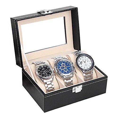 Custodia per gli orologi BOX per orolgi valigetta per 3 orologi Marchio MyBeautyworld24