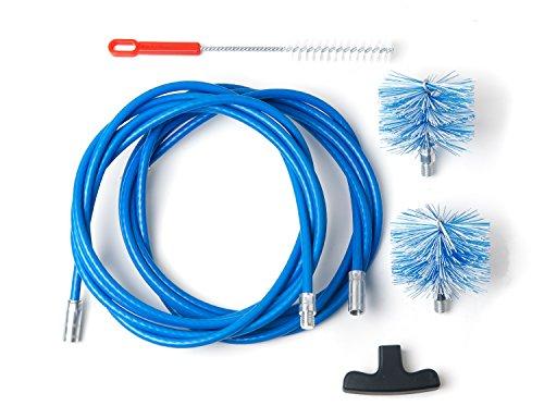 BARETTO - Kit 9 Mètres de Ramonage - 2 Brosses Pellet 80 et 100mm - Kit Nettoyage de Poêle à Pellets / Granulés