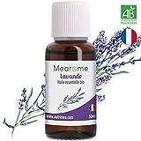Huile Essentielle de Lavande Vraie Bio Mearome - 30ml - 100% Pure et Naturelle - HEBBD - HECT - Qualité et Fabrication Française