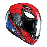 "HJC CS-15, casco integrale da motociclista, design ""Spiderman Homecoming"" della Marvel, MC1"