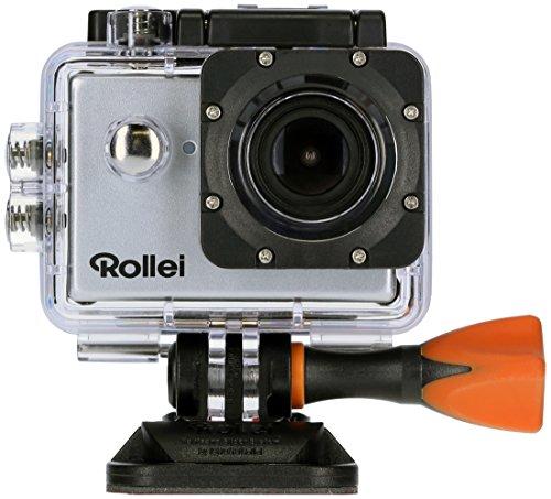 Rollei Actioncam 525 WiFi Action Cam (mit 4k Video Auflösung, Weitwinkelobjektiv, bis 40 m wasserfest, inkl. Unterwasserschutzgehäuse und Fernbedienung) silber