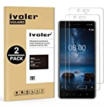 iVoler [2 Unidades] Protector de Pantalla para Nokia 8, Cristal Vidrio Templado Premium