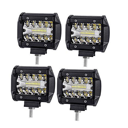 4 Pollici 60W Faro da Lavoro LED WANYI Faretti a Led per Auto 12V/24V SUV Faretto Faro,6000K 12000LM...