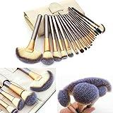 LZYMSZ 18piezas Set de pinceles de maquillaje profesional Kit de maquillaje esencial con estuche de pincel