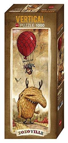 Heye Red Balloon 1000 Piece Zozoville Jigsaw Puzzle by Heye