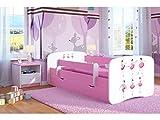 Kocot Kids Kinderbett Jugendbett 70x140 80x160 80x180 Rosa mit Rausfallschutz Matratze Schubalde und Lattenrost Kinderbetten für Mädchen