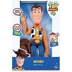 Toy Story 4 - Figura de Woody con voz en español, más de 20 frases, 40 cm (Bizak 61234071-1)