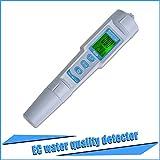 RCYAGO 3 en 1 PH Monitor del multiparámetro agua calidad probador PH Pen CE temperatura medidor Acidometer bebida agua calidad Analizador (CE/PH/Temp)