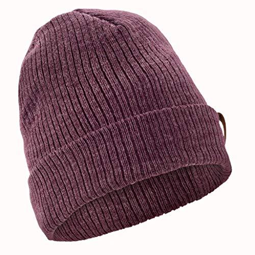 Wedze Cappello Invernale da Sci per Adulti, Morbido e Caldo, per attività all'Aperto, Unisex, Viola