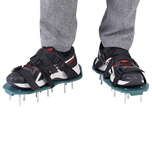 TOPINCN 1 par de Sandalias de aireador de césped Calzador de aflojamiento del Suelo Zapatos con púas Jardín Zapatos Sueltos Herramienta de jardinería para Jardines Verdes Espigas (3 Correas)