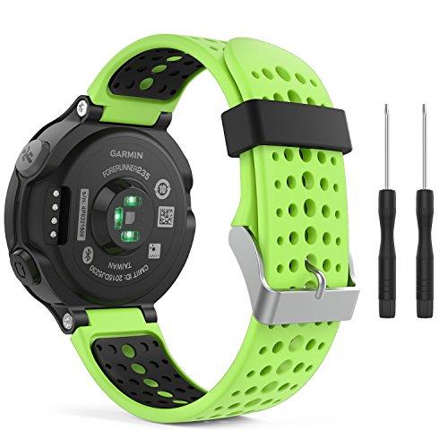 MoKo Garmin Forerunner 235 Accessori, Morbido Cinturino di ricambio in Silicone per Garmin Forerunner 220/230/235/620/630/735 Smart Watch (NON Per Forerunner 35), Verde