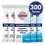 Sagrotan Hygienereinigungstücher - Für die praktische Reinigung und Desinfektion von Oberflächen - 5 x 60 Feuchttücher in wiederverschließbarer Verpackung