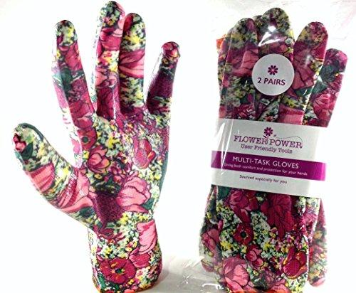 2paia Donna Guanti da giardinaggio–Leggero e resistente guanti da lavoro per...