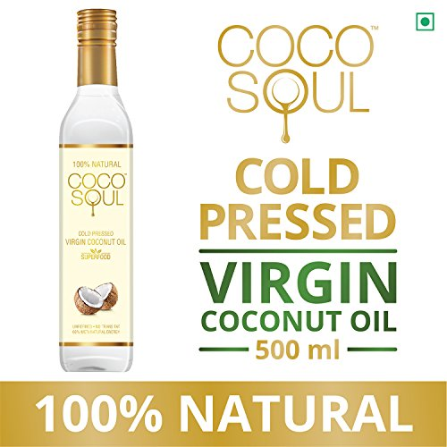 Coco Soul Cold Pressed Natural Virgin Coconut Oil, 500 ml