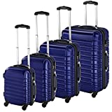 TecTake Set de 4 valises de Voyage de ABS Serrure à Combinaison intégrée   poignée télescopique   roulettes 360° - diverses Couleurs au Choix - (Bleu   no. 402027)