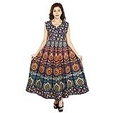 The Jaipur Bazar Women's Cotton Dress (Tjb-Ryndrs-2057_Multicolor_Free Size)
