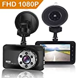"""ORSKEY Dash Cam 1080P Full HD Car Camera DVR Dashboard Camera Video Recorder In Car Camera Dashcam for Cars 170 Wide Angle WDR with 3.0"""" LCD Display Night Vision Motion Detection and G-sensor"""