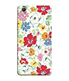 PrintVisa Designer Back Case Cover for Oppo A37 (Flower Fabric Printed Red Purple Leaf Nature)