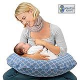Kradyl Kroft 5in1 Baby Feeding Pillow with Detachable Cover (Happy Blue)