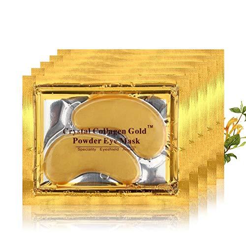Digital Shoppy Gold Crystal Collagen Whitening Moisturizing Under Eye Dark Circle Remover Patches - 5 Pairs